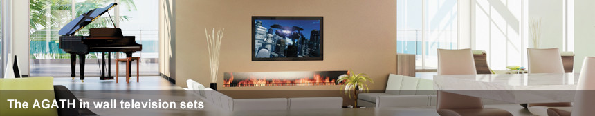 The Agath in wall television sets