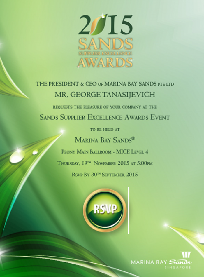 MBS Supplier Excellence Awards Event